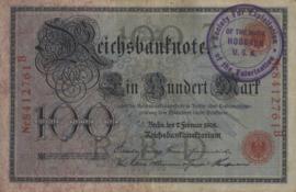 Duitsland P33.b Stempel Hoboken 100 Mark 1908