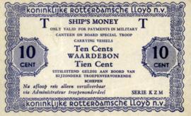 Koninklijke Rotterdamsche Lloyd: Geen scheepsnaam PL1610.2.a1 10 Cent 1947 (ND)