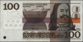 The Netherlands PL103.b 100 Gulden 1970
