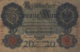 Duitsland P37 20 Mark 1909