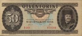 Hongarije P170 50 Forint 1965/1989