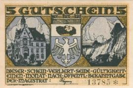 Neheim a/d Ruhr 5 Mark 1920