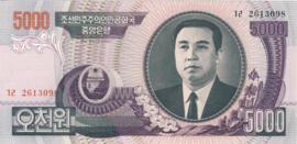 Korea Noord P46 5.000 Won 2006