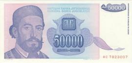 Joegoslavië P130 50.000 Dinara 1993