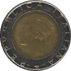 Italië KM111 500 Lire 1989R