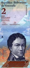 Venezuela P88.f 2 Bolivares 2007-2013