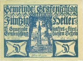 Grafenschlag 50 Heller 31 Dezember 1920 UNC-