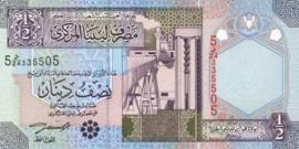 Libië P63 1/2 Dinar 2002 (No date)