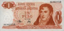 Argentinië P287.a3 1 Peso 1970-73 (No date)