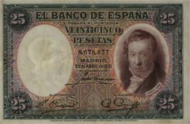 Spanje  P81 25 Pesetas 1931