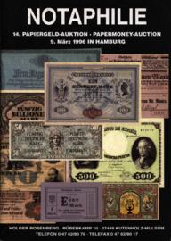 Auction catalogue Notaphilie 1996-03