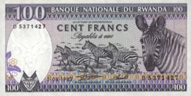 Rwanda P18.a 100 Francs 1982