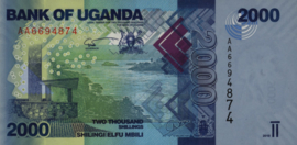 Oeganda P50.a 2.000 Shillings 2010