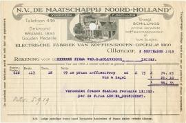 Nederland, Alkmaar, Nota, Schillings koffiesiropen, 1919