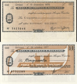 Banca di Trento e Bolzano 50 Lire