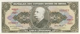 Brazilië P176.a 5 Cruzeiros No Date 1962-68 UNC
