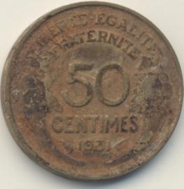 Frankrijk 50 Centimes KM894.1 1931