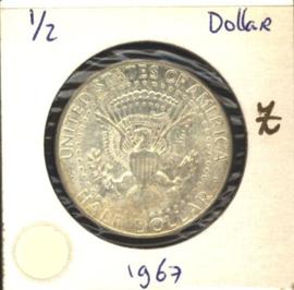 VS/USA ½ Dollar 1967 KM202a Zilver