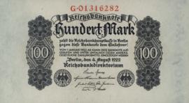 Deutsches Reich 100 Mark 1922-08-04 DEU-83