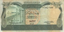 Libië P43 1/2 Dinar 1981 (No date)