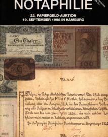 Auction catalogue Notaphilie 1998-09