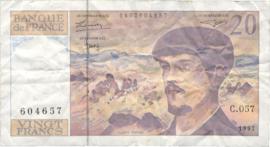 Frankrijk P151.i 20 Francs 1980-97