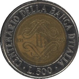 Italië KM160 500 Lire 1993R
