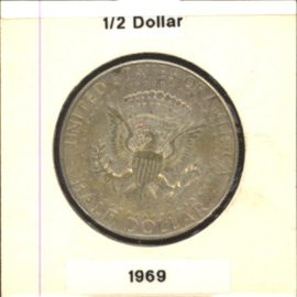 VS/USA ½ Dollar 1969 D KM202a Zilver