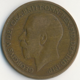 Engeland 1 PENNY 1920 KM# 810