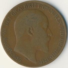 Engeland 1 PENNY 1908 KM# 794