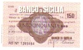 Il Banco di Sicilia - 150 Lire