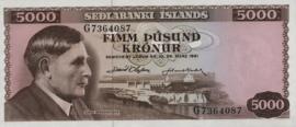 Ijsland P47.b 5.000 Krónur 1961