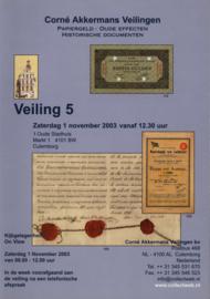 Veilingcatalogus Akkermans 5