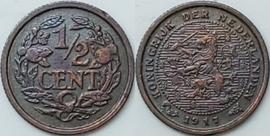 Nederland Sch.1012 1/2 Cent 1917