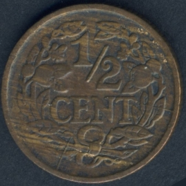 Sch.1015 1/2 Cent 1928 Stempelbreuk