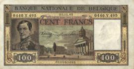 België P126 100 Francs 1945-1950