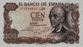 Spanje P152 100 Pesetas 1970