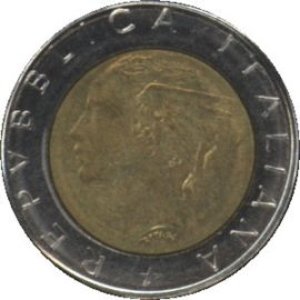Italië KM111 500 Lire 1984R