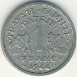 Frankrijk 1 Franc KM902 1944 Vichy