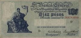 Argentinië P253 10 Pesos 1936-43 (No date)