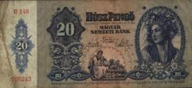 Hongarije P109 Húsz Pengo 1941