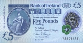 Noord Ierland P90 5 Pounds 2017