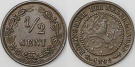 Nederland Sch.1001 1/2 Cent 1898