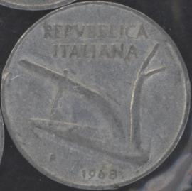Italië KM#93 10 Lire 1968R