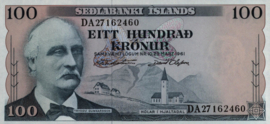 Ijsland P44.a 100 Kroner 1961