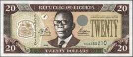 Liberia P28.a 20 Dollars 2003