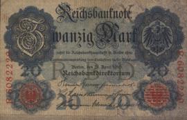 Duitsland P40.b 7 cijfers 20 Mark 1910