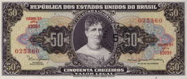Brazilië  P184 5 Centavos 1966-67 (No date)