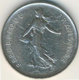 Frankrijk 5 Francs KM926a.1