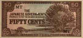 Malaya PM4.b 50 Cents 1942-1945